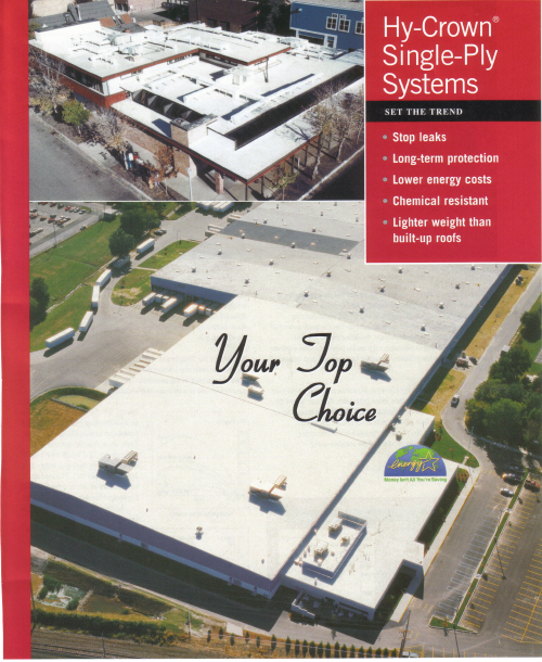 Conklin Hy Crown Single Ply Systems Wiegand Roofing